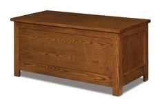 Amish Flush Mission Blanket Chest with Cedar Bottom Charming blanket chest handcrafted in solid wood. Built to last and bring joy for generations. #chest #bedroomchest