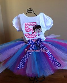 Doc McStuffins tutu birthday outfit by TouchdownTutus on Etsy, $44.00