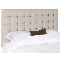 Safavieh Mercer Lamar Full Headboard Beige, Beige & Tan