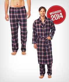 Rule the household on chilly mornings and cool nights in a flannel robe