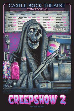 """Horror Movie Poster Art : """"Creepshow by Steven Luros Holliday Horror Icons, Horror Movie Posters, Horror Comics, Movie Poster Art, Print Poster, Castle Rock Stephen King, Stephen King Movies, Arte Horror, Horror Art"""