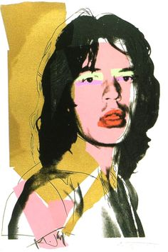 Andy Warhol's obsession with celebrity Icons takes shape once again in his infamous Mick Jagger series. The signer comes to life in Warhol's 10 prints.