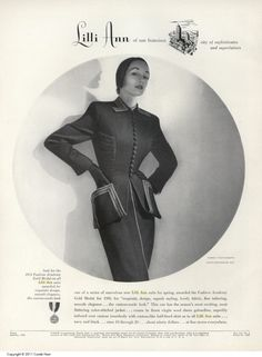 Swwwwwooooooon Lilli Ann Suit ad Vogue, Jan 51