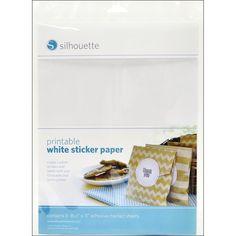 Silhouette Printable Sticker Paper