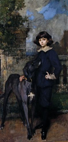 ⍕ Paintings of People & Pets ⍕  Sir James Jebusa Shannon | Portrait of John Manners, later 9th Duke of Rutland, c. 1898-9