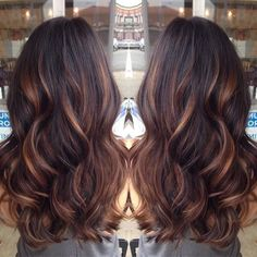 Golden caramel balayage on her dark brown hair . I want to try the balayage method of hair color. Hot Hair Colors, Cool Hair Color, Indian Hair Color, Summer Hair Colour, Spring Hair Colors, Hair Color Ideas For Dark Hair, Hair Color For Fair Skin, Latest Hair Color, Latest Colour
