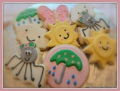 Itsy Bitsy Spider Cookies Custom Cookies by Cousin's Creations - Cousin's Creations