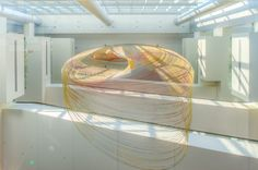 euphony: suspended spiral installation by ball nogues studio - designboom