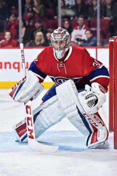 Photo galleries featuring the best action shots from NHL game action. Montreal Canadiens, Montreal Quebec, Hockey Posters, Goalie Pads, Nhl Games, Colorado Avalanche, Field Hockey, Ice Hockey, Skating
