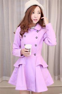 2013 Fashion Flouncing Hem Thicker Woolen Coat