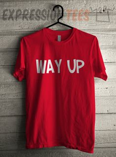 Men's Way Up Shirt Printed Unisex Adult I Feel Blessed Graphic T-Shirt #1628 by Expression Tees Trending Clothing / Apparel USA Seller