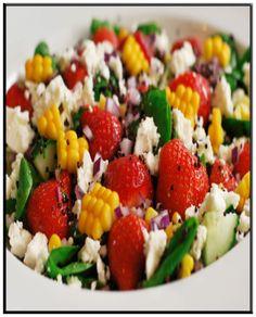 Strawberry, spinach & feta salad   http://www.ibssanoplus.com/low_fodmap_strawberry_spinach_feta_salad.html