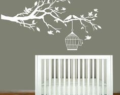 Vinyl Wall Decals Nursery White Tree Branch by ModernWallDecal