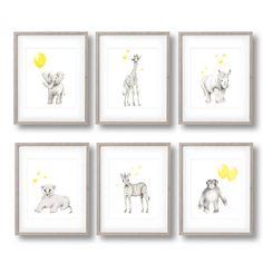 Safari pépinière Art ensemble de 6 tirages par studioQgallery