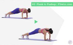 Plank to push-ups