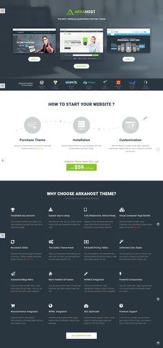 Arka Host - A Premium Technology WordPress Theme Best Wordpress Themes, Technology, Free, Tech, Engineering