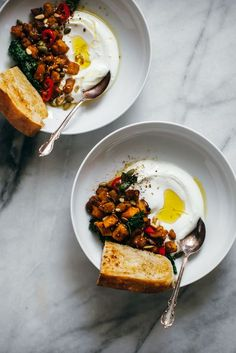 Rasted Pumpkin with Dukkah, Yogurt, and Fried Bread Recipe | My Name Is Yeh