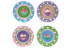 Set of 4 Assorted Dessert Plates on OneKingsLane.com