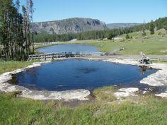 Yellow Stone hot springs