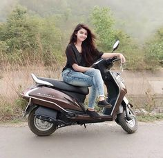Image may contain: 1 person, sitting, motorcycle and outdoor Dehati Girl Photo, Girl Photo Poses, Girl Photography Poses, Beautiful Girl Photo, Beautiful Girl Indian, Beautiful Girl Image, The Most Beautiful Girl, Simply Beautiful, Beautiful Women
