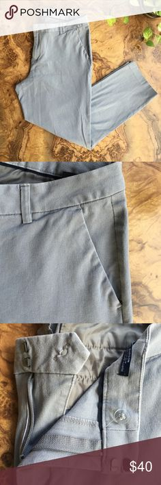 Tommy Hilfiger gray stretch work pants. Tommy Hilfiger gray stretch work pants. Slim fit. Very comfy. Has pockets on front and back. Size 16. Tommy Hilfiger Pants Ankle & Cropped