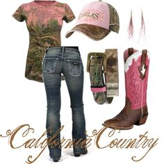 pink camo, cloth, california, country girls, outfit, cowgirl, countri girl, boots, shirt