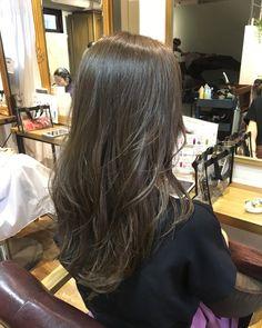Haircuts Straight Hair, Long Layered Haircuts, Long Hair Cuts, Korean Long Hair, Korean Hair Color, Brown Hair Balayage, Hair Highlights, Long Straight Layered Hair, Brown Layered Hair