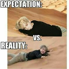 Both are fine, but reality seems like more fun #BTS