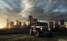 jeep beautiful view