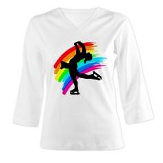 Pretty Figure Skating design on Tees and gifts from www.cafepress.com/sportsstar to inspire your Ice Princess #Figureskate #Ilovefigureskating #Iceprincess #Figureskater