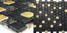 Die extravaganten Mosaikfliesen in schwarz-gold!  http://www.roma-ausstellung.de/Roma-3722530-mosaikfliesen-Roma-3722530