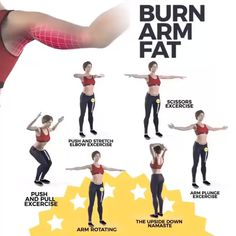Workout To Burn Arm Fat Training, um Armfett zu verbrennen Slim Arms Workout, Back Fat Workout, Gym Workout Tips, Mommy Workout, Fitness Workout For Women, Body Fitness, At Home Workouts, Physical Fitness, Arm Workout Women No Equipment