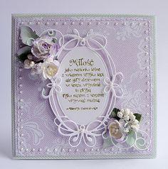 Nadal ślubnie u mnie, bo i czas taki. Dzisiaj tradycyjny komplet z wykorzystaniem fioletu i bardzo modnej mięty przełamany bielą. Częs...