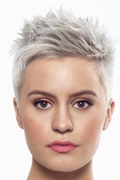 - Trend Hair Makeup And Outfit 2019 Funky Short Hair, Super Short Hair, Short Grey Hair, Short Hair Cuts For Women, Black Hair, Short Pixie Haircuts, Short Bob Hairstyles, Male Hairstyles, School Hairstyles