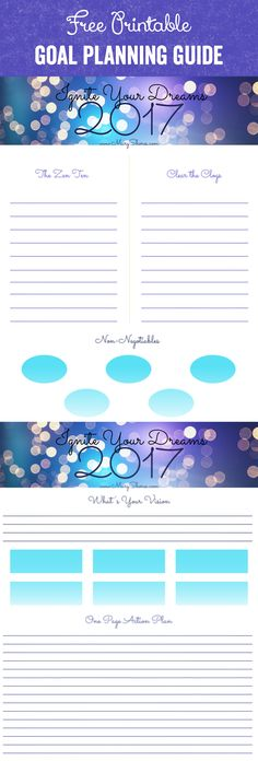 [FREE PRINTABLE] Ignite Your Dreams - MEGA Goal Planning Guide - Mary Shores