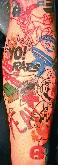 Pop culture tattoo by Jef Palumbo.