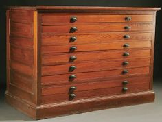 Ten drawer oak mayline flat file cabinet flat file cabinet sold for 750 in 2007 a pine map or blueprint cabinet early 20th century comprising 8 drawers in paneled case top modified 42 height x 60 width x 31 malvernweather Gallery