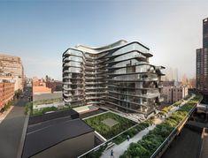Zaha Hadid divulga nova imagem do edifício próximo ao High Line de Nova Iorque, © Hayes Davidson