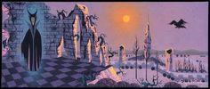 Eyvind Earle Sleeping Beauty Concept Art ~ Maleficent