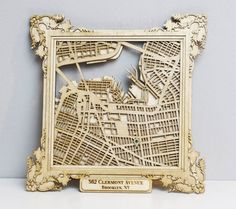 CUSTOM Laser Cut Wood Map with Personalized by CollectedEdition, $90.00