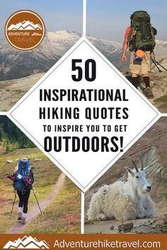 50 Inspirational Hiking Quotes To Inspire You To Get Outdoors!  If you love hiking and exploring the outdoors but need some extra inspiration to set aside the never-ending to-do list, we have put together 50 Inspirational Hiking Quotes to Inspire You To Get Outdoors. #hiking #quotes #adventurequotes #inspirationalquotes #hike #hikingquotes Hiking Quotes, Travel Quotes, Adventure Quotes, Adventure Travel, Franklin Falls, Winter Hiking, Get Outdoors, Round Trip, Wonders Of The World