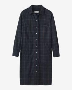 SMOKEY PLAID SHIRT DRESS by TOAST