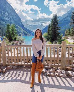 . Lake Louise Banff, Fairmont Chateau Lake Louise, Jessica Ricks, Leggings And Converse, Hapa Time, Sweaters And Jeans, Western Outfits, Autumn Winter Fashion, Fall Fashion