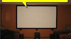 We've featured DIY projector screens before, but as far as DIY projects go they can still get a bit pricey. If you're got a nice, flat wall, you can use this method to create a great screen on the cheap.
