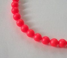 25 Swarovski neon pearls Swarovski crystal beads 6mm PEARL -- Neon Red faux pearls