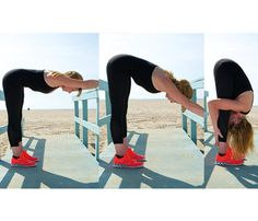 Best Stretches: Foldover. Stretches neck, back, glutes, hamstrings, calves #SelfMagazine