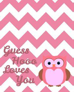 Cute Owl Valentine, Free Printable...so sweet