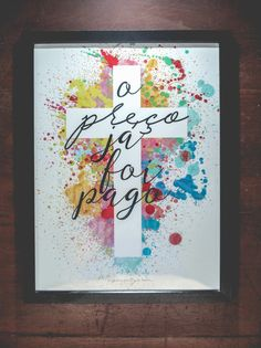 "eusoucontigo: "" venha conferir: eusoucontigo.com/shop ou whats: (11) 94121-5560 "" Lettering Tutorial, Hand Lettering, Cuadros Diy, Teen Art, Cross Art, Church Activities, Jesus Freak, Diy Canvas Art, Dear God"