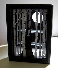 Hudson Valley Etsy Team (New York): DIY Tutorial: Shadow Box Halloween Decoration