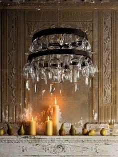 Wine glass chandelier. from marieclaireidees.com
